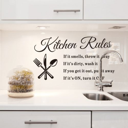 New 2015 Quotes Wall Sticker Kitchen Rules Wall Stickers Sayings And Inside Wall Art Sayings (Image 4 of 10)