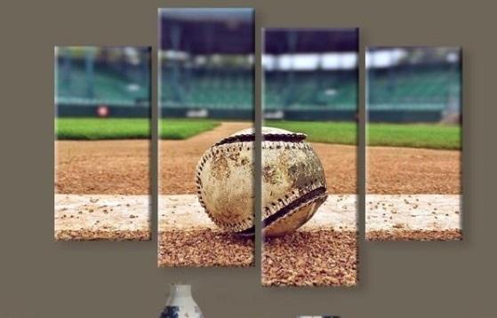 New 5 Pieces/sets Canvas Art Canvas Paintings Hd Baseball Stadium With Baseball Wall Art (Photo 4 of 10)