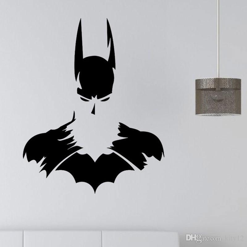 New Batman Superhero Vinyl Wall Art Sticker Poster Wallpaper With Regard To Batman Wall Art (Photo 1 of 10)