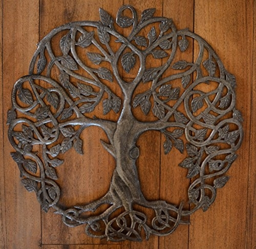 New Design Celtic Inspired Tree Of Life, Metal Wall Art, Fair Trade Inside Tree Of Life Wall Art (Photo 2 of 10)