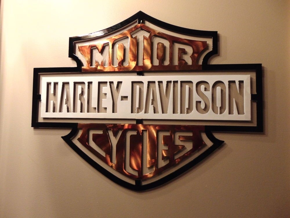 New Harley Davidson Metal Wall Art Design 15' X 20'glmaw Throughout Harley Davidson Wall Art (Photo 3 of 10)