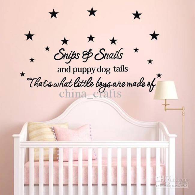 New Listing Baby Room Wall Stickers 50X110Cm Children's Room Wall Regarding Baby Room Wall Art (Image 7 of 10)