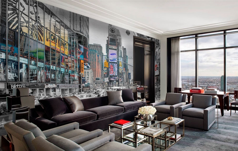 New York Lights Wall Art – Moonwallstickers Throughout New York Wall Art (Image 4 of 10)