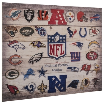 Nfl Logos Wood Wall Decor | Hobby Lobby | 536060 Intended For Nfl Wall Art (Photo 3 of 10)