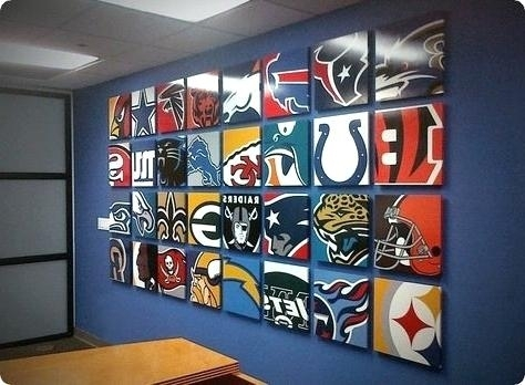 Nfl Wall Art Wall Mural Sports Print Prints Printing Wall Nfl Throughout Nfl Wall Art (View 10 of 10)