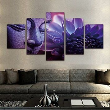 Nice Looking Purple And Grey Wall Art Small Home Remodel Ideas With Purple And Grey Wall Art (Image 4 of 10)