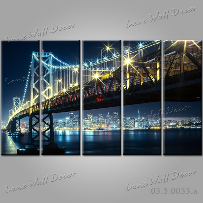 No Frame Canvas Only Amazing San Francisco Wall Art – Wall Inside San Francisco Wall Art (Image 5 of 10)