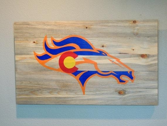 Nobby Design Broncos Wall Art Remodel Ideas Denver Colorado Flag Intended For Broncos Wall Art (Photo 10 of 10)