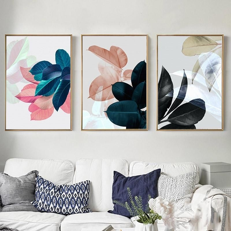 Nordic Art Paintings Wall Pictures For Living Room Posters Plants For Wall Art Canvas (Photo 6 of 10)