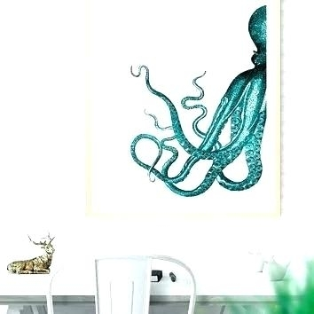 Ocean Wall Decor Sea Life Wall Decorations Sea Life Wall Art Octopus For Sea Life Wall Art (View 6 of 10)