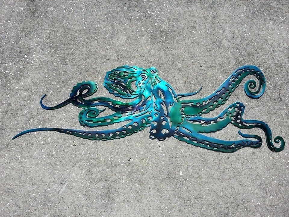 Octopus Wall Art Bright Octopus Wall Art Art Print – Keepsakestorage Intended For Octopus Wall Art (Image 3 of 10)