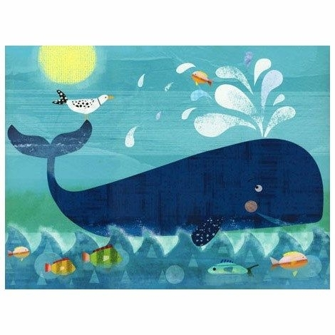 Oopsy Daisy Whale Pals Canvas Wall Art #laylagrayce | Guest Bedroom Within Whale Canvas Wall Art (Image 7 of 10)