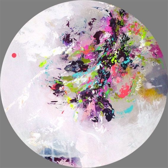 Original Abstract Painting, Round Painting, Round Wall Art, Round For Round Wall Art (Image 5 of 10)
