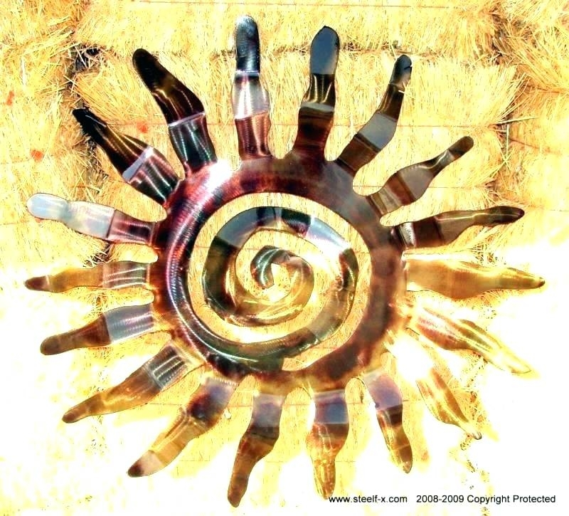 Outdoor Metal Sun Wall Art Metal Sun Wall Art Outdoor Outdoor Metal Intended For Outdoor Sun Wall Art (Image 6 of 10)