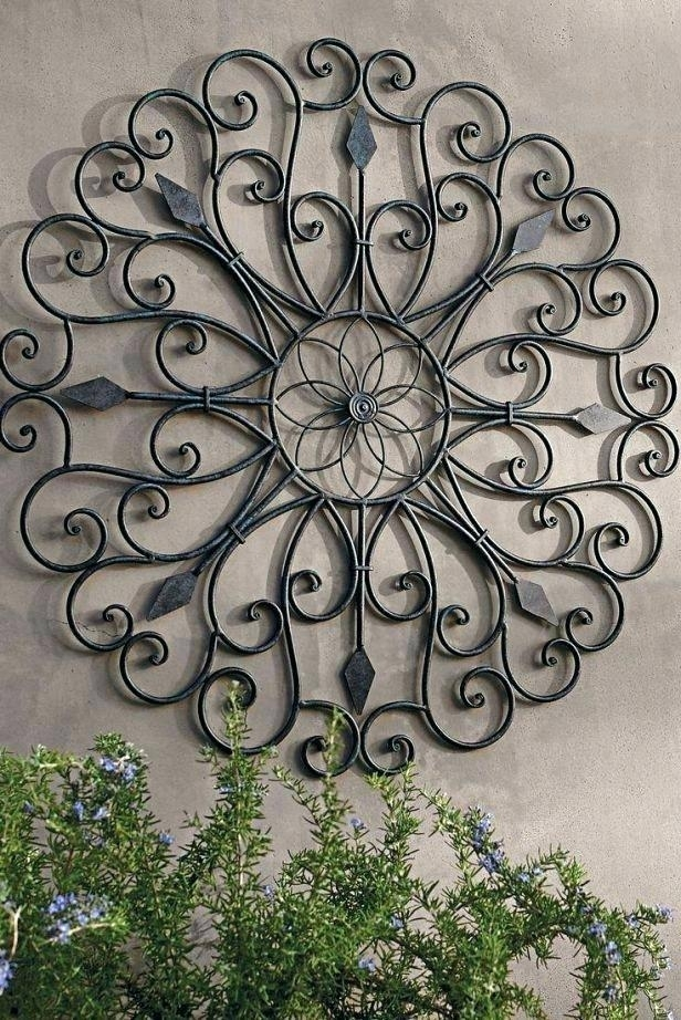 Outdoor Metal Sun Wall Art Metal Wall Art For Outdoors Metal Garden Regarding Large Outdoor Wall Art (Image 7 of 10)