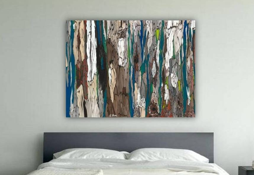 Featured Image of Oversized Teal Canvas Wall Art