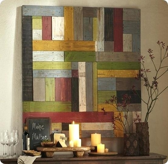 Paintings On Wood Planks Plank Wall Art Painted Pieced Wood Home With Plank Wall Art (View 3 of 10)