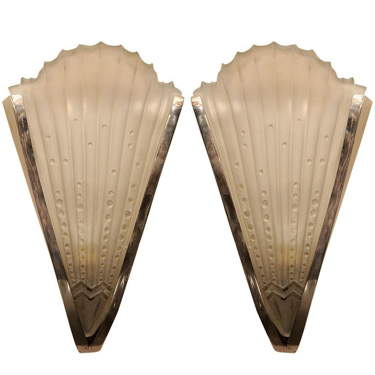 Pair Of Art Deco Wall Sconces – Paul Stamati Gallery Regarding Art Deco Wall Sconces (Photo 2 of 10)