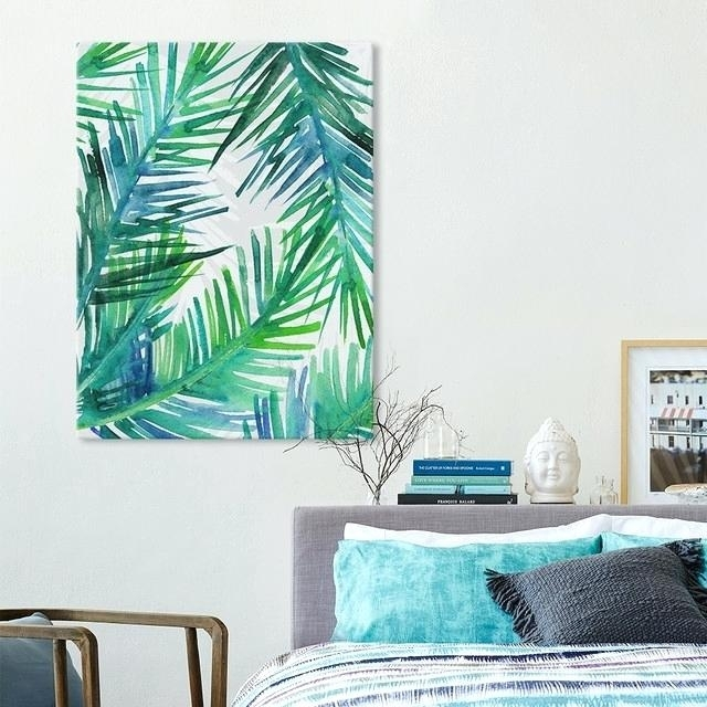 Palm Leaf Wall Art Stunning Design Tropical Wall Art Small Home Pertaining To Tropical Wall Art (Image 3 of 10)
