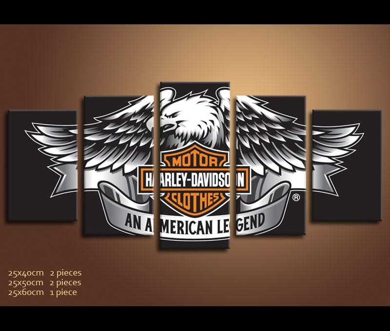 Panels Hd Prints Best Harley Davidson Wall Art – Wall Decoration Ideas With Regard To Harley Davidson Wall Art (Image 10 of 10)