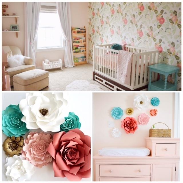Paper Flower Nursery Wall Art | Paperflora In Flower Wall Art (Image 9 of 10)