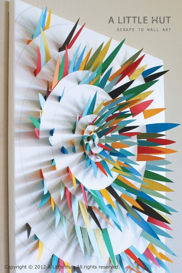Paper Scrap Wall Stunning Paper Wall Art – Wall Decoration And Wall With Regard To Paper Wall Art (Image 8 of 10)