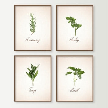 Peaceful Inspiration Ideas Herb Wall Art Interior Decorating Shop On For Herb Wall Art (Photo 4 of 10)