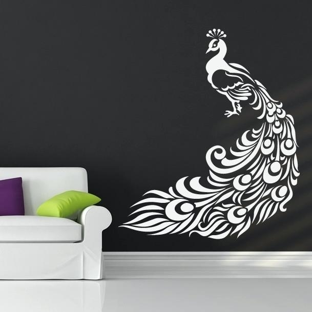 Peacock Wall Decal With Peacock Wall Art Peacock Wall Art Decal Wall For Peacock Wall Art (Image 6 of 10)
