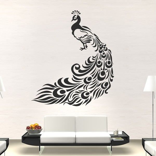Peacock Wall Stickers Bird Wall Art Intended For Peacock Wall Art (Image 8 of 10)