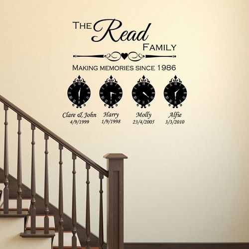Personalised Family Wall Art & Clocks With Regard To Family Wall Art (Image 8 of 10)