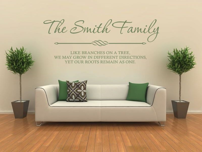 Personalised Family Wall Art & Quote Wall Sticker Decal Modern Transfer Intended For Family Wall Art (Image 9 of 10)