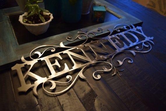 Personalized Metal Name Sign – Custom Metal Name Sign, Custom Metal Within Personalized Metal Wall Art (Image 9 of 10)