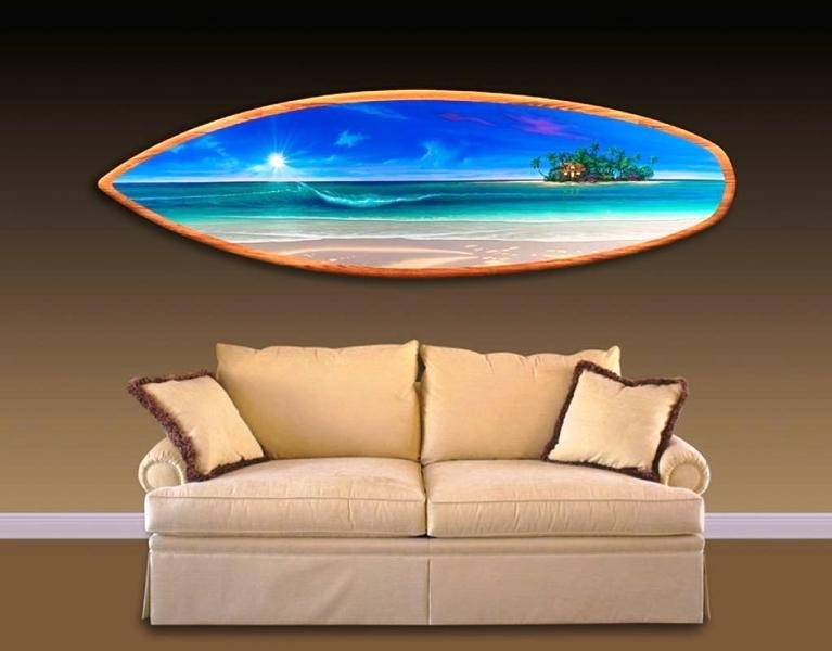 Personalized Surfboard Wall Art — Room Decor : How To Select Intended For Surfboard Wall Art (Image 4 of 10)