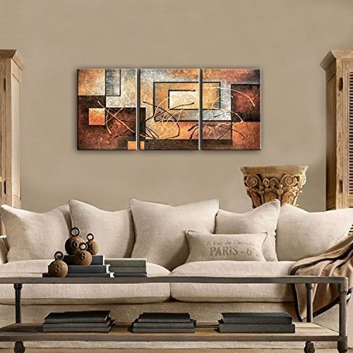 Phoenix Decor Abstract Canvas Wall Art Oil Paintings On Canvas For Pertaining To Modern Painting Canvas Wall Art (Photo 8 of 10)