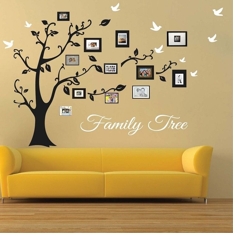 Picture Frame Family Tree Wall Art | Large Wall Murals | Pinterest For Tree Wall Art (View 8 of 10)