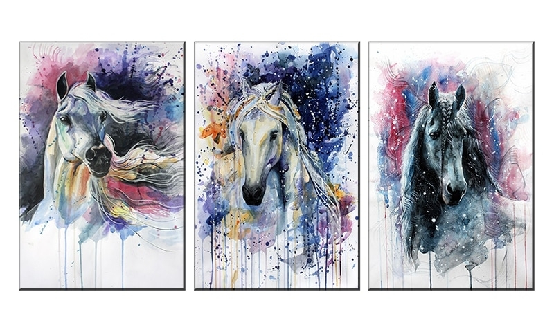 Picture Frame Wall Art Canvas Painting Horses Wall Pictures For For Cheap Framed Wall Art (Image 9 of 10)
