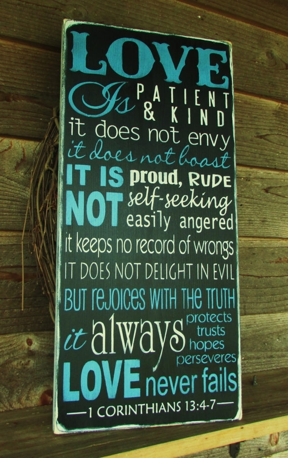 Featured Image of Love Is Patient Wall Art