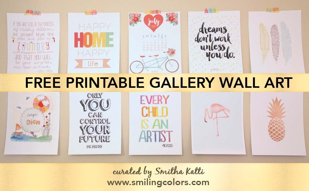 Printable Gallery Wall Art That Will Make Your Room Look New In Free Printable Wall Art (Image 10 of 10)