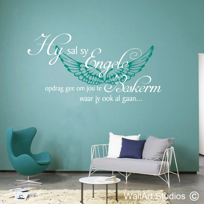 Psalm 91:11 Engele | Vinyl Wall Stickers | Wall Art Studios Sa Inside Wall Art Decals (Image 6 of 10)