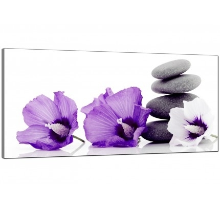 Purple Canvas Pictures Prints & Wall Art – Free Delivery In Purple And Grey Wall Art (Image 7 of 10)