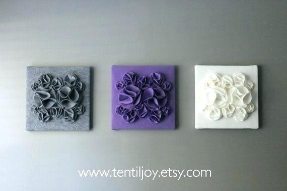 Purple Wall Art For Bathroom Purple Flower Wall Art Modern Black Pertaining To Purple And Grey Wall Art (Image 10 of 10)