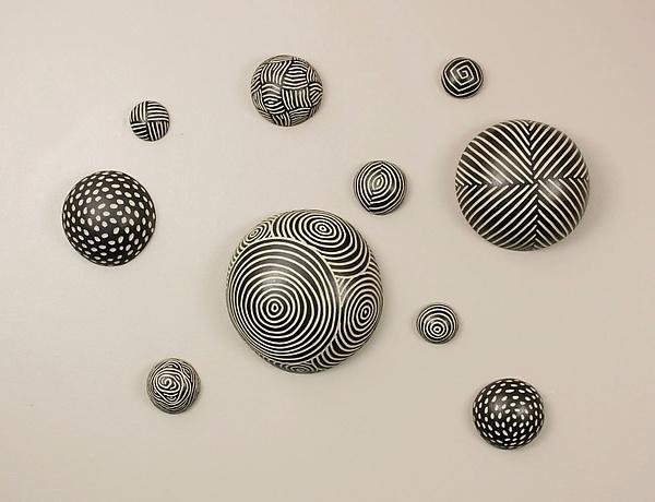 Random Pattern Wall Ballslarry Halvorsen (Ceramic Wall Art Pertaining To Ceramic Wall Art (Image 6 of 10)