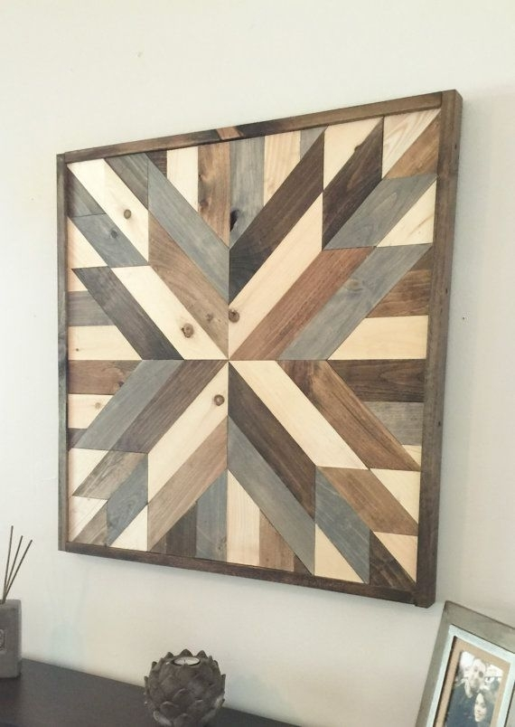 Reclaimed Wood Wall Art, Wood Art, Rustic Wall Decor, Farmhouse With Reclaimed Wood Wall Art (Image 5 of 10)