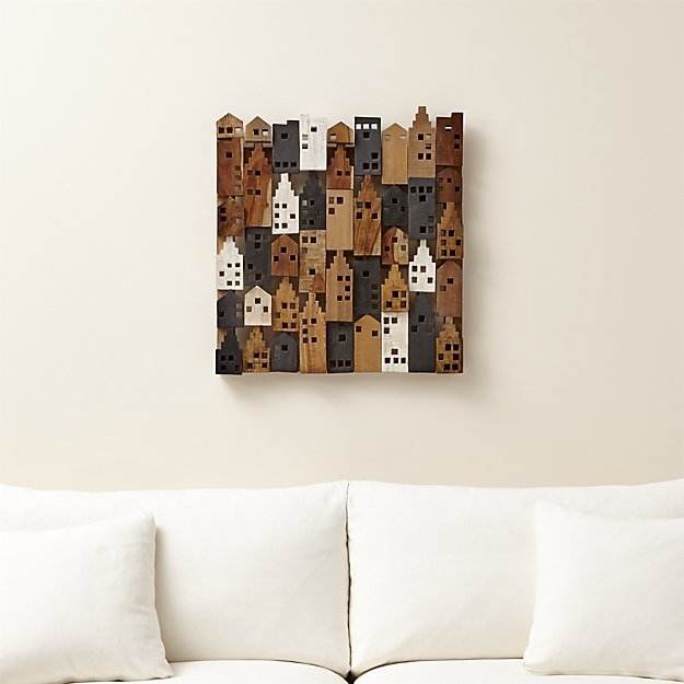Rectangle Wall Art Village Beautiful Crate And Barrel Wall Art Intended For Crate And Barrel Wall Art (View 2 of 10)