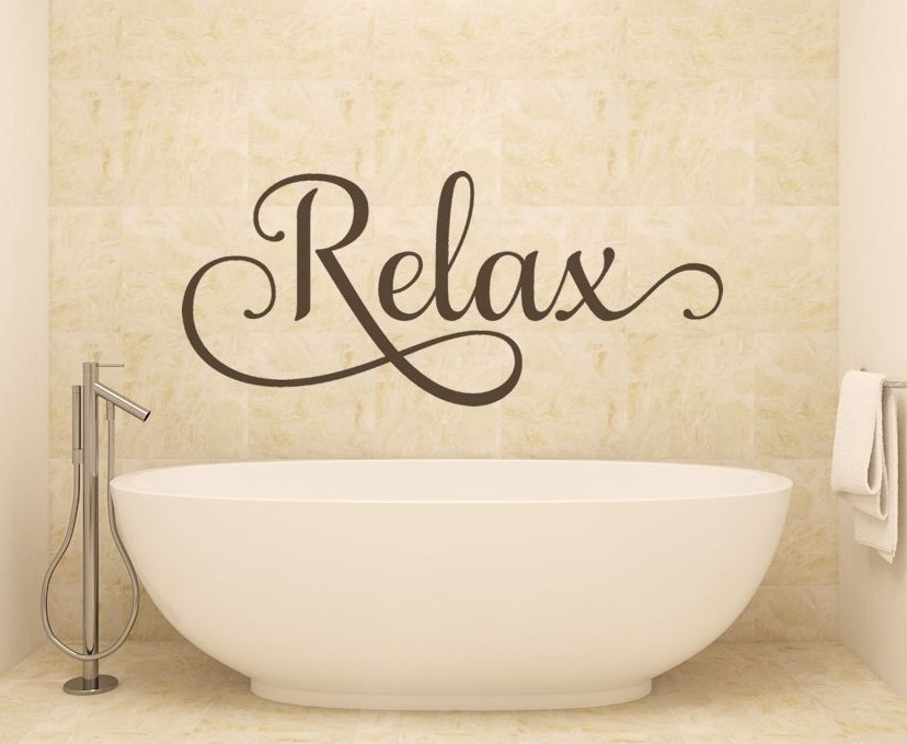Relax – Decorative Wall Decals Removable – With Relax Wall Art (Photo 1 of 10)