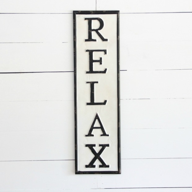 Relax Metal Wall Art | Antique Farmhouse Regarding Relax Wall Art (Image 6 of 10)