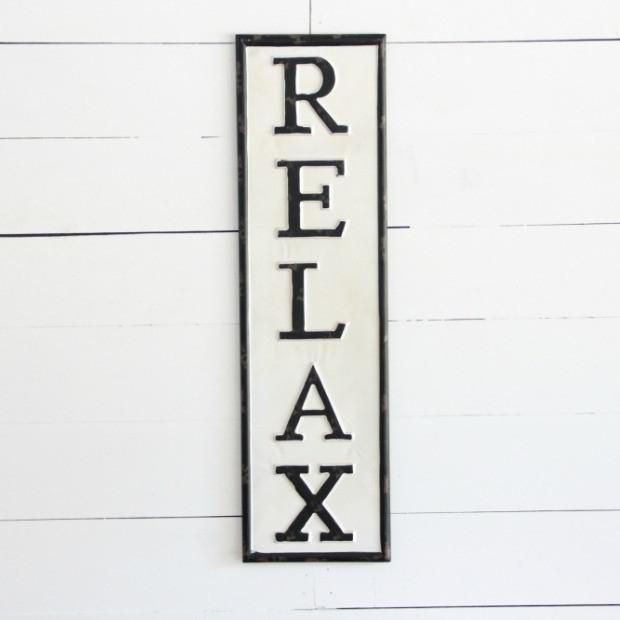 Relax Metal Wall Art | Antique Farmhouse Regarding Relax Wall Art (Photo 10 of 10)