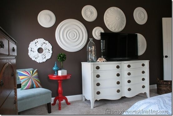 Remodelaholic | Ceiling Medallion Wall Art For Bedroom Makeover Throughout Ceiling Medallion Wall Art (Image 9 of 10)