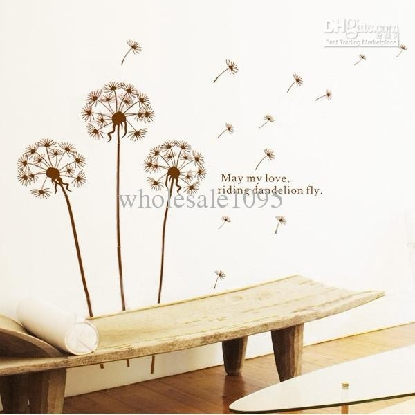 Removable Dandelion Decals Wall Mural Wall Art Wall Stickers Living Within Wall Art Decals (Image 7 of 10)