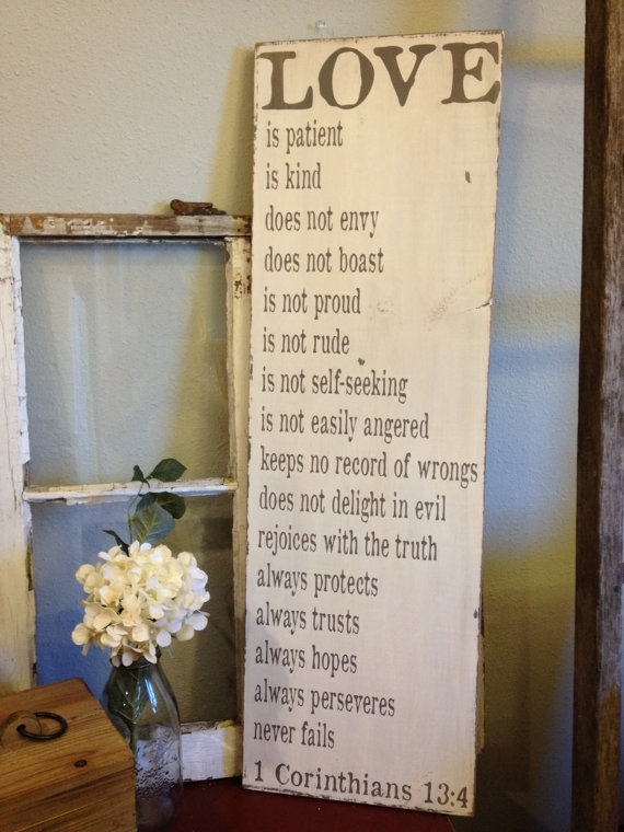Reserved For Tracey | Christian Decor | Pinterest | Corinthians 13 Intended For Love Is Patient Wall Art (Image 9 of 10)